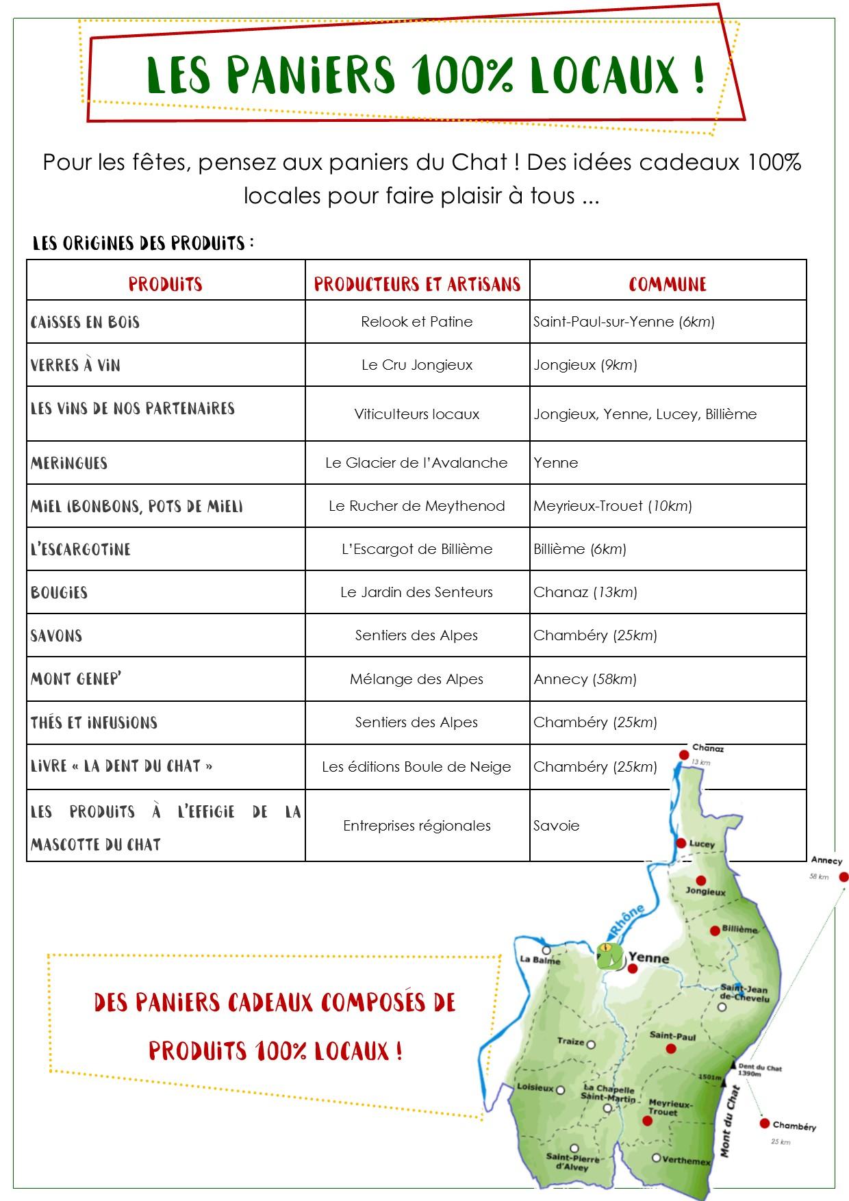 Paniers 100% locaux - carte des producteurs locaux