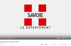 capture écran youtube Savoie Département