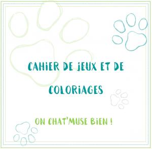 Visuel web cahier de coloriage du Chat