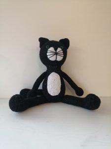 Peluche Chat moyenne - Les Crochets de Sandrine