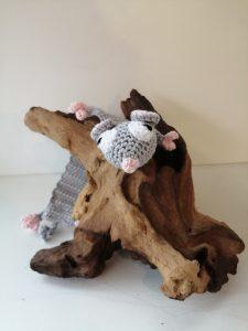 Marque page souris - Crochet de Sandrine