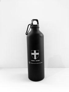 Gourdes 800 ml croix de Savoie - noire - OT Yenne