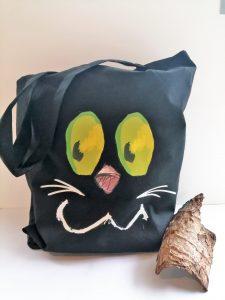 Totebag tête de Chat - Coloris noir