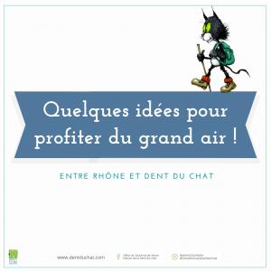 Visuel de promotion web - idées pour profiter du grand air